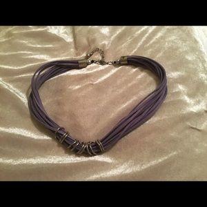 Casual faux suede necklace